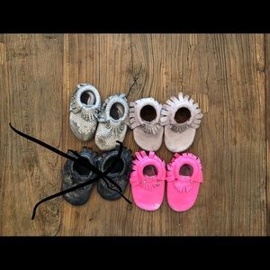 3 pairs of Freshly Picked Mocs size 3